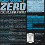 Iso Whey Zero 500g – BioTech USA