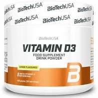 Vitamine D3 Poudre 150g Lemon – Biotech USA