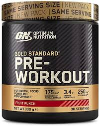 Gold Standard Pre-Workout Fruit Punch 330g – Optimum Nutrition
